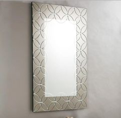 Plain Edge Framed Rectangle Glass Mirror For Living Room 600*900*15mm