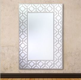 Anti Scratch Modern Rectangular Wall Mirror For Home/ Hotel Decoration