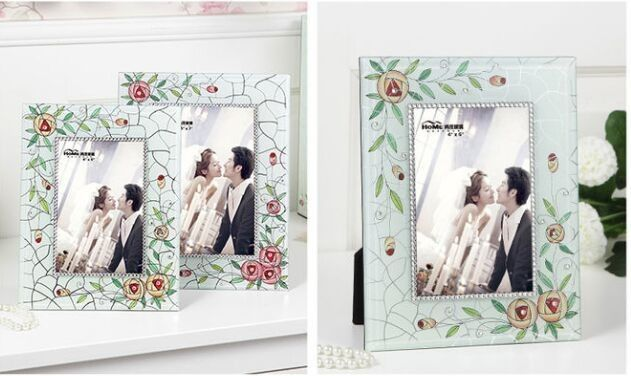 Contemporary Glass Wedding Photo Frames Wedding Gifts For Guests Deluxe