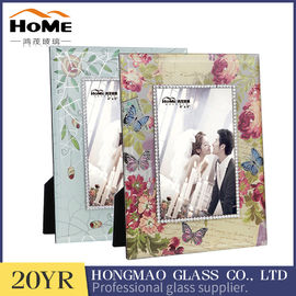 Rectangle Standing Glass Wedding Photo Frames Vintage Style Wear Resistance