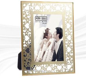 High End Brass And Glass Picture Frame Various Sizes / Design High Hardness