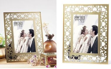Clear Double Glass Photo Frame , Glass And Metal Picture Frames For Store Decor