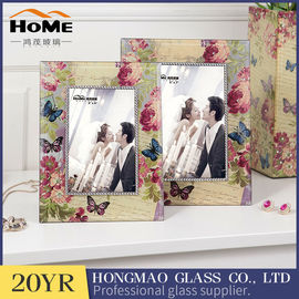 Lightweight Portable Glass Wedding Photo Frames Anniversary Gifts High Hardness